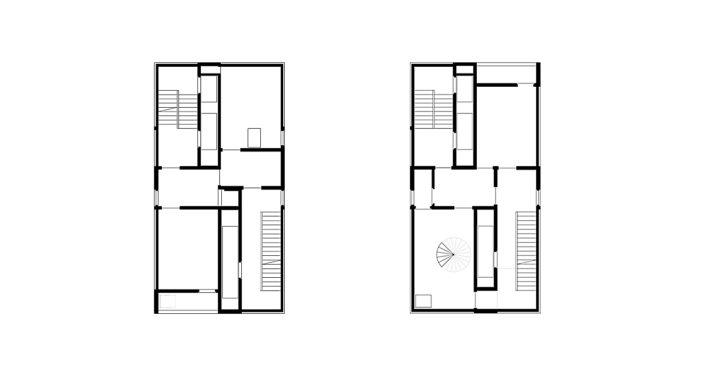 Brandhaus Grundrisse 2 und 3 OG