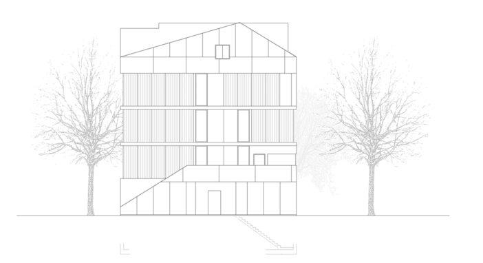 Brandhaus Südfassade