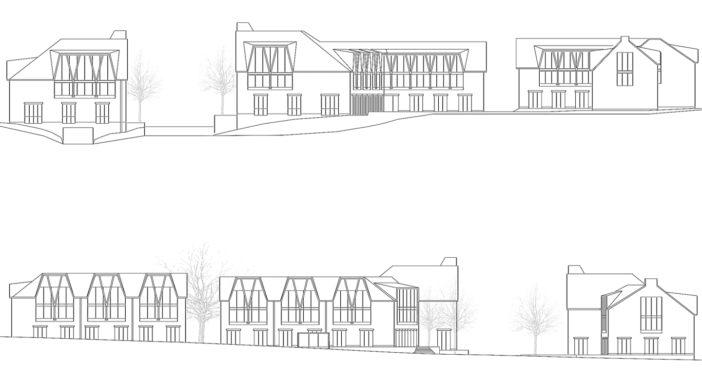Rotmonten Fassaden Nordost und Südwest