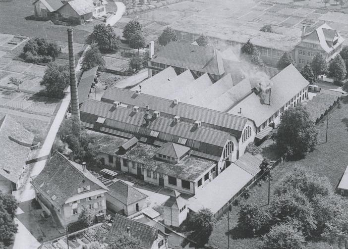 Eisenwerk Areal Flugaufnahme 1930
