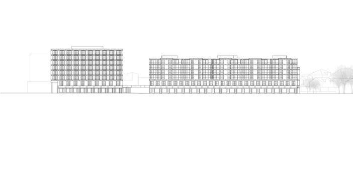 Wil Bahnhofstrasse Süd Fassade