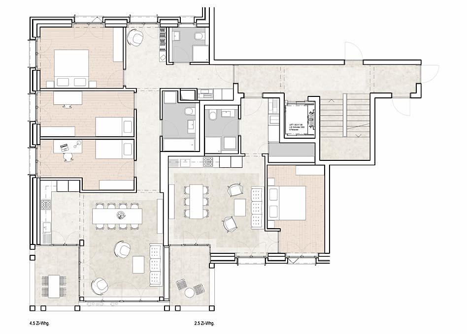 Bären Wohnungstypen